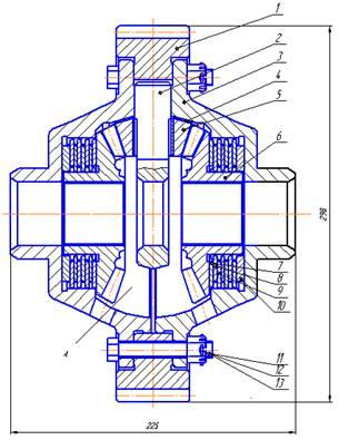 Рисунок 1- Дифференциал с